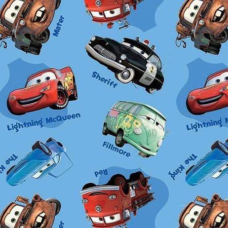 ディズニー(Disney)USA商品 カーズ Cars クラフト 生地 手芸 パーティーグッズ 雑貨 91.4cmx111.8cmx0.1cm [並行輸入品]