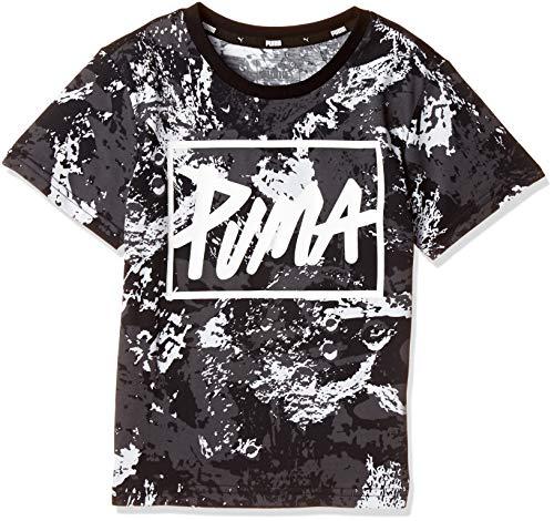 [プーマ] トレーニングウェア STYLE グラフィック Tシャツ AOP 853695 [ボーイズ] ブラック (61) 日本 120 (日本サイズ120 相当)