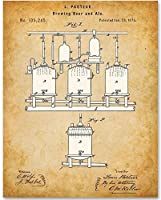 Brewing Beer And Ale Patent - 11x14 Unframed Patent Print - Great Gift for Home Brewers Home Bars or Man Cave Decor [並行輸入品]