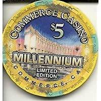 $ 5 Commerce MillenniumカジノチップCommerce California Obsolete