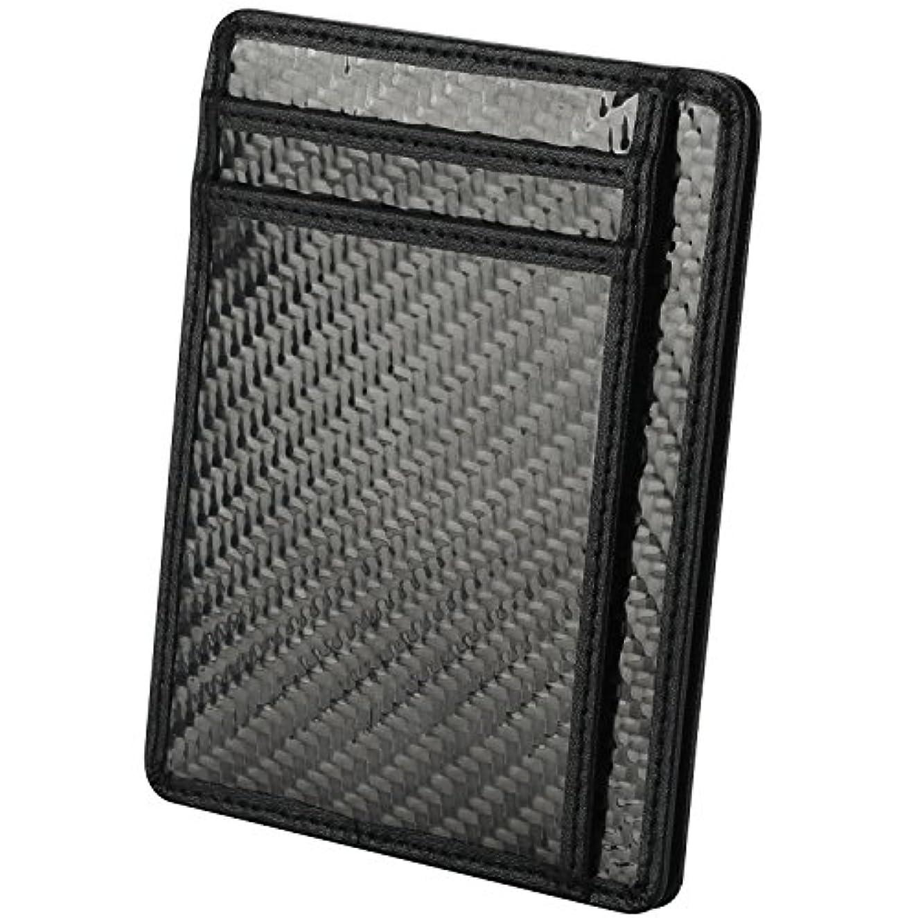 汗独創的アーサーコナンドイルRFIDブロックスリム財布、ミニマリストフロントポケット財布クレジットカードホルダー