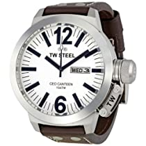 TW Steel Tw 鋼 代表取締役社長 食堂 50 mm ホワイト ダイヤル メンズ 時計 CE1006