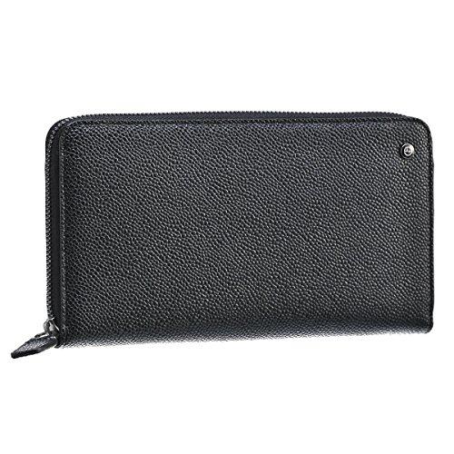 Giorgio Armani(ジョルジオアルマーニ) 財布 メンズ 型押しカーフスキン ラウンドファスナー長財布 ブラック Y2R142-YCR3J-80001 [並行輸入品]