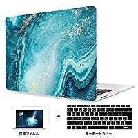 Redlai 新型 MacBook Pro 13 インチ Touch Bar無し フラワープリント ハードプラスチックケース 対応モデル(A1708) Pro 13.3 インチ 専用シェルカバー ハードケース 液晶保護フィルムと日本語キーボードカバー付き(大理石 Z226)