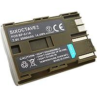 str Canon キヤノン BP-511 / BP-512 / BP-511A / BP-514 互換バッテリー イオス EOS 5D / EOS 50D / EOS 10D / EOS 20D / EOS 20Da / EOS D30 / EOS 30D / EOS 40D / EOS-D60 純正品と同じよう使用可能 純正充電器で充電可能 残量表示可能