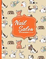 Nail Salon Appointment Book - Cute Veterinary Animals Cover: 4 Columns