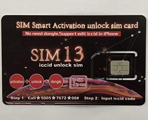 R- iccid Unlock Sim 13 ロック解除アダプタ iOS12 対応 SIM Unlock アンロック 3 in 1 SIMフリー Kayyoo 解除アダプター auto 4G iPhone XS/XS Max/XR/X / 8 / 8 Plus / 7 / 7 Plus / 6S / 6S Plus/SE / 6 / 6 Plus 適応