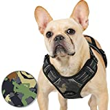 Rabbitgoo Dog Harness No Pull for Large Dogs, Easy Control Pet Vest Harness with 2 Leash Clips, Safe Reflective Dog Vest with Handle & Strong Buckles, Soft Padded for Comfort, Oxford Fabric (Camo)