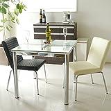 東馬 ダイニングテーブルセット 3点セット N-フレスコ80ダイニングテーブル/Y-802チェア2脚(ホワイト)