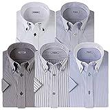 (アトリエサンロクゴ) atelier365 半袖 ワイシャツ 5枚セット 形態安定 ビジネス クールビズ/sa02-3L-45-SA02-Dset-SS-17