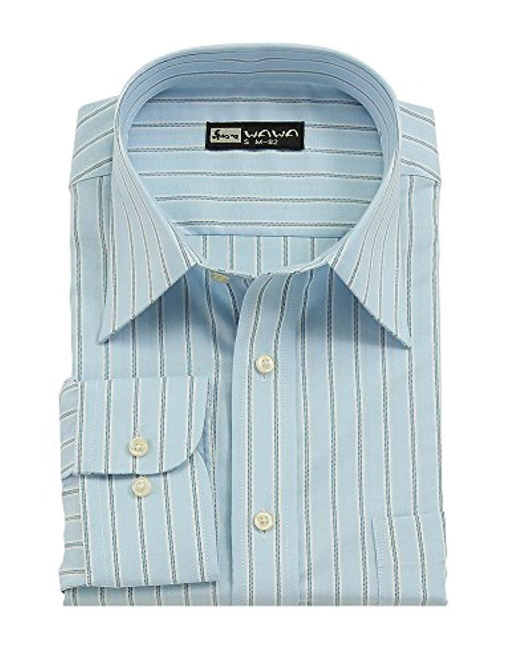 人種ステッチ淡い(ワワジャパン)WAWAJAPAN 12種類から選べる綿100%メンズワイシャツ Cシリーズ (S80(スリムタイプ), C-704)