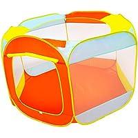Baosity オレンジ色 ポータブル ボールピット キッズ ボールピットおもちゃ  屋内/屋外 プレイテント キッズテント