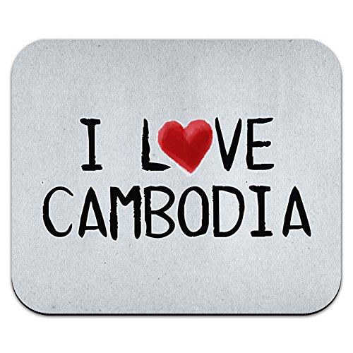 I 愛 Cambodia 紙に書かれましたマウスパッド