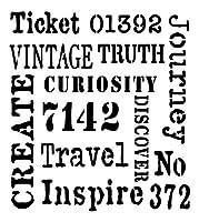 クリエイティブ表現ステンシル、Andy Skinner-Inspire、17.8 x 17.8 cm