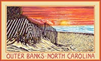 Northwest Art Mall DL-6067 SDS Outer Banks North Carolina sand Dune sunrise 11x17 Print by Artist David Linton [並行輸入品]