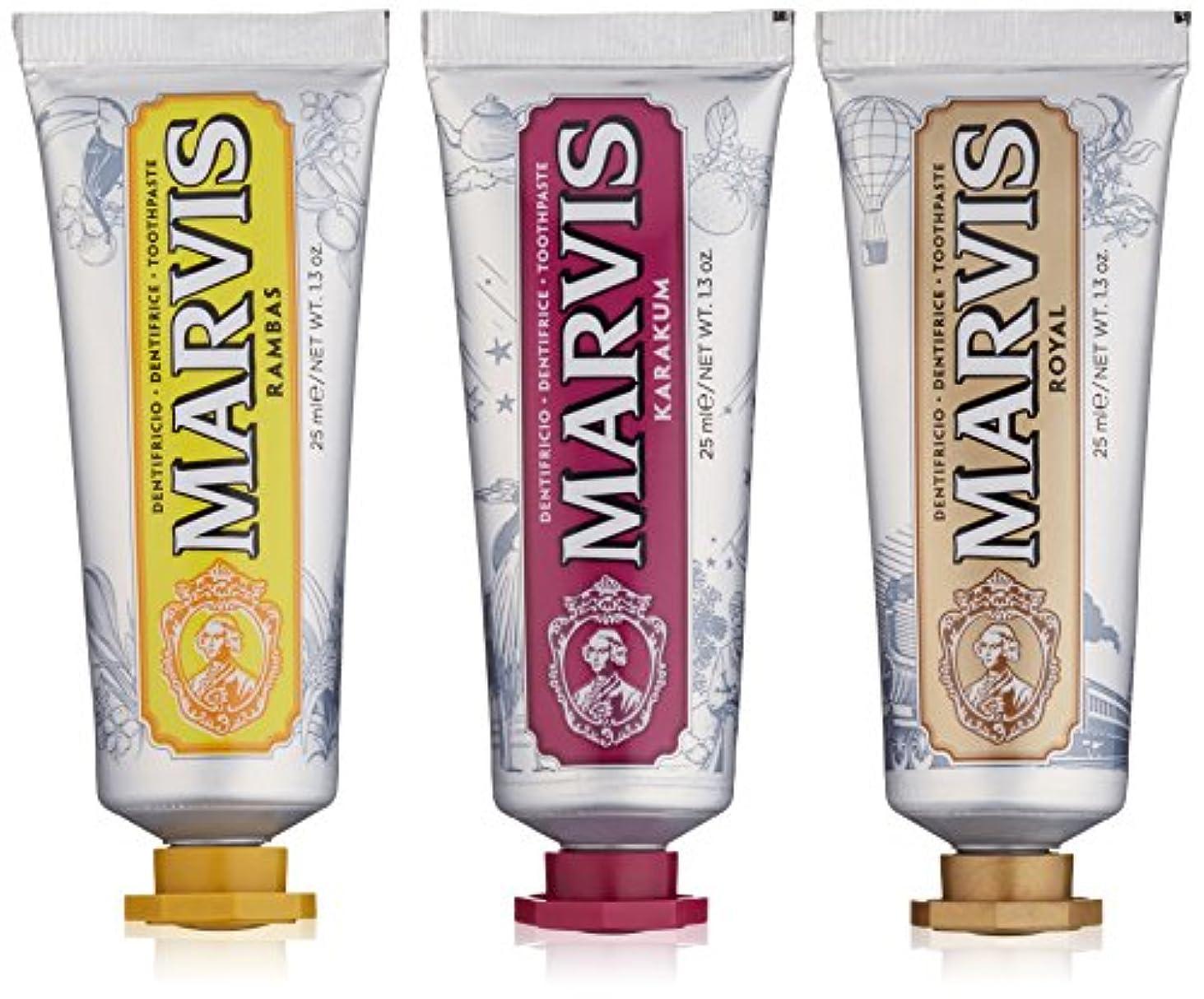 不要注入フェザーMARVIS(マービス) ワンダーズオブザワールド コレクション (歯みがき粉) 25ml x 3本