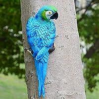 シミュレーションオウム庭の装飾リアルなハーフサイドおもちゃ飾り人工樹脂彫刻置物(ブルー-1#)