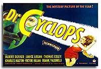 1950のDr。Cyclopsホラー映画ポスター8x 12メタルサイン