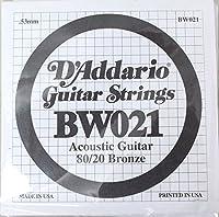 D'Addario BW021 アコースティックギター用バラ弦×5本