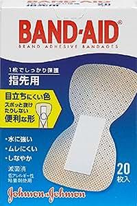 BAND-AID(バンドエイド) 救急絆創膏 肌色タイプ 指先用 20枚