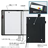 コクヨ ノートカバー 手帳 システミック リングノート対応 A5 レザー調 黒 50枚 ノ-V685B-D 画像