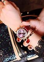 女性女性時計腕時計の女性のシンプルなスポーツの防水日付カレンダー多機能ブラックパープル赤クロノグラフ手首腕時計の腕時計