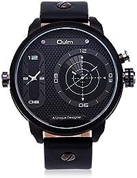 Rockyu ブランド レディース メンズ 腕時計 オシャレ 二つタイム 世界腕時計 サファイアガラス (ホワイト) [並行輸入品]