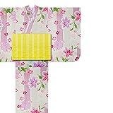 和がまま 子供浴衣3点セット 古典 浴衣+兵児帯+下駄 (100, No.10)