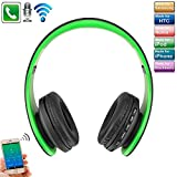 Bluetoothヘッドフォン マイク、SIMPLE DO 折り畳み式 ワイヤレスヘッドフォン 低音重視 通話可能 FMラジオ機能 3.5mmオーディオ 高音質 ヘッドホン 低音重視 ノイズキャンセリング