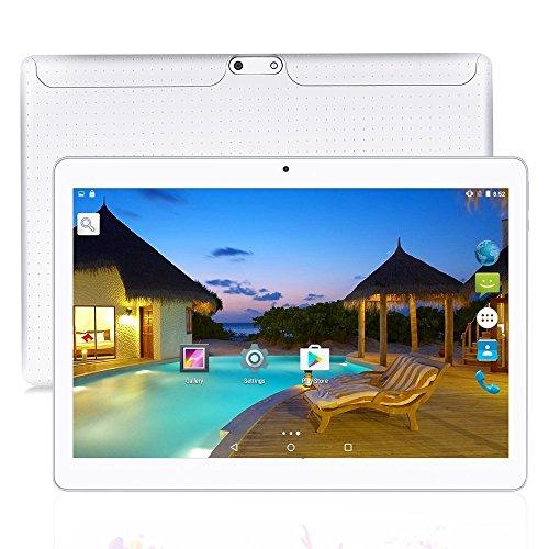10.1 インチ タブレットPC tablet pc アンドロイド6.0 クアッドコア 2GB+32GB デュアルSIMスロット 3G通話MIDPad IPS液晶 WI-FI、bluetooth 4.0、GPS搭載 日本語対応 (白)
