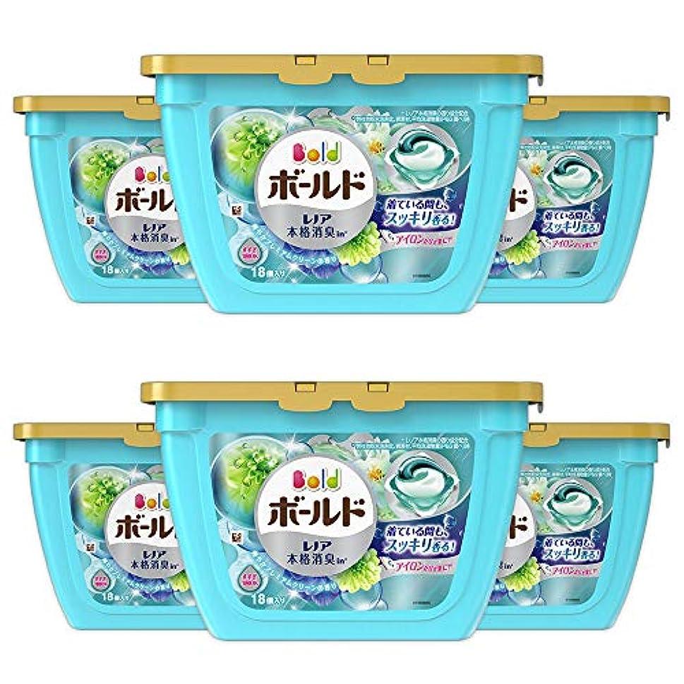 居間詳細なドラッグ【ケース販売】ボールド 洗濯洗剤 ジェルボール3D 爽やかプレミアムクリーンの香り 本体 18個×6