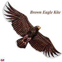 3D Extra Large Dark Brown Eagle Kite - Chinese Handmade Silk Kites by G'z [並行輸入品]