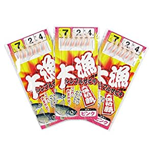 TAKAMIYA(タカミヤ) 大漁シンプルサビキ 3枚組 針7号-ハリス2号  ピンク