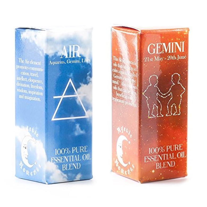水を飲む眠っている広まったMystic Moments | Air Element & Gemini Zodiac Sign Astrology Essential Oil Blend Twin Pack (2x10ml)