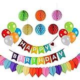 誕生日 飾り付け 装飾 セット Happy Birthday バースデー ガーランド パーティー バルーン 風船 バナー バースデーデコレーション