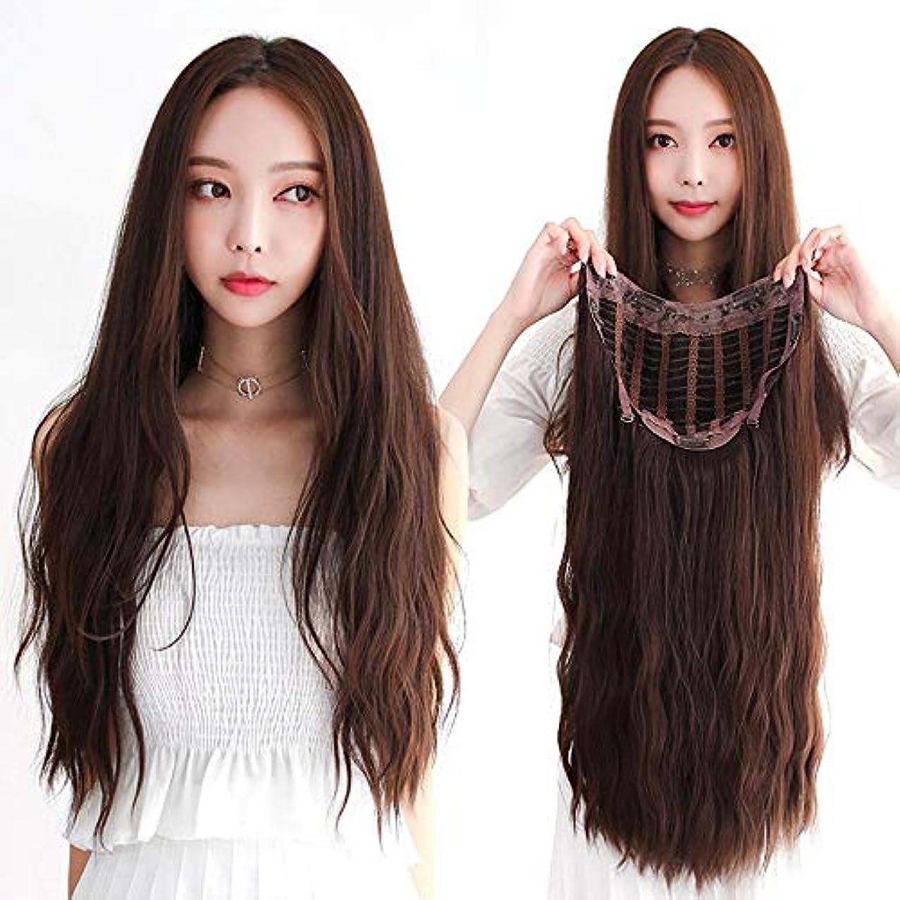 プール洞察力ペフSRY-Wigファッション ウィッグ女性の長い髪長い巻き毛大きな波気質目に見えないシームレス現実的です