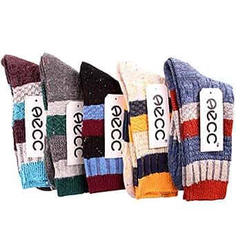 (シュアナウ) SURENOW 5足セットメンズ配色切り替え ミックスネップ ケーブル編み ソックス 靴下 アンクルソックス