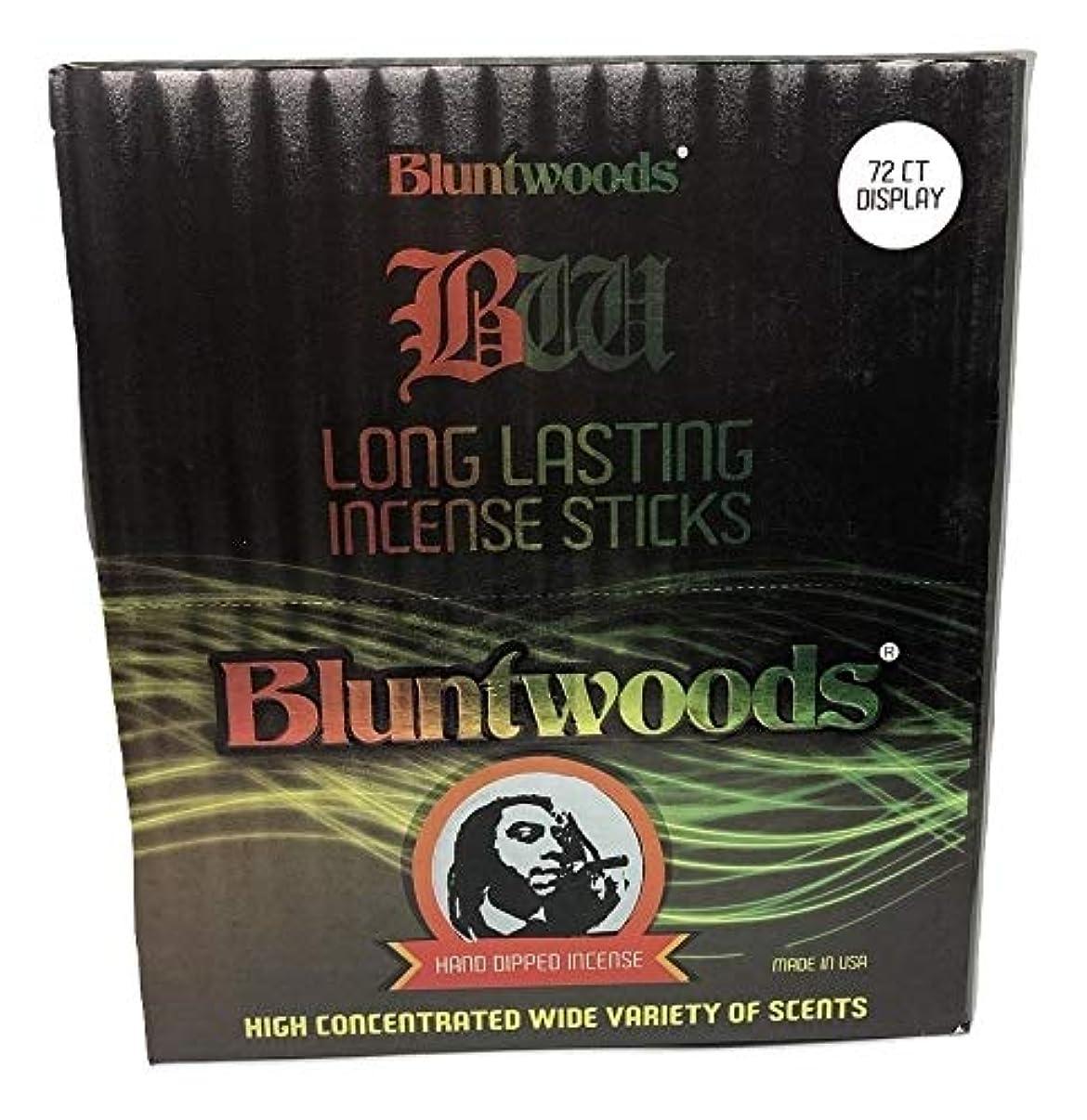 メジャー存在苗BLUNTWOODS Blunt Woods 手染め お香ディスプレイ (72カウントアスト) 合計864 お香スティック