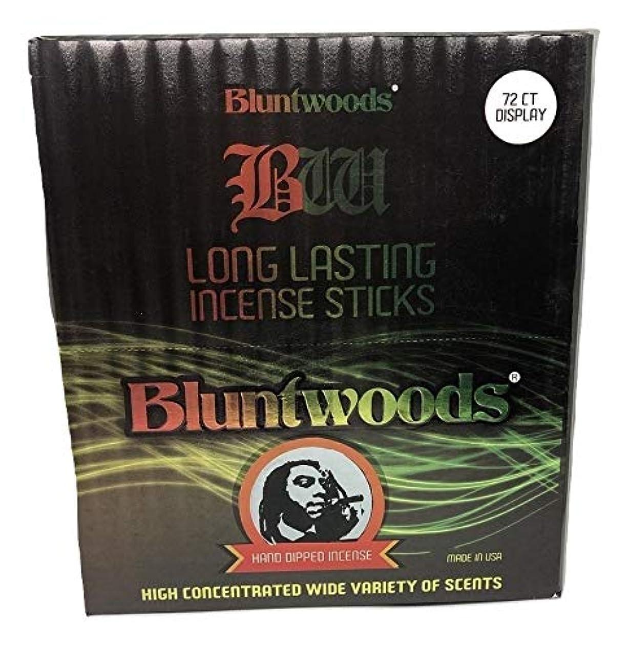 セッションレコーダー残基BLUNTWOODS Blunt Woods 手染め お香ディスプレイ (72カウントアスト) 合計864 お香スティック
