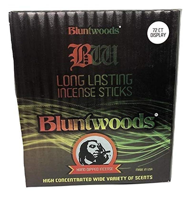 アジア人モバイル散髪BLUNTWOODS Blunt Woods 手染め お香ディスプレイ (72カウントアスト) 合計864 お香スティック