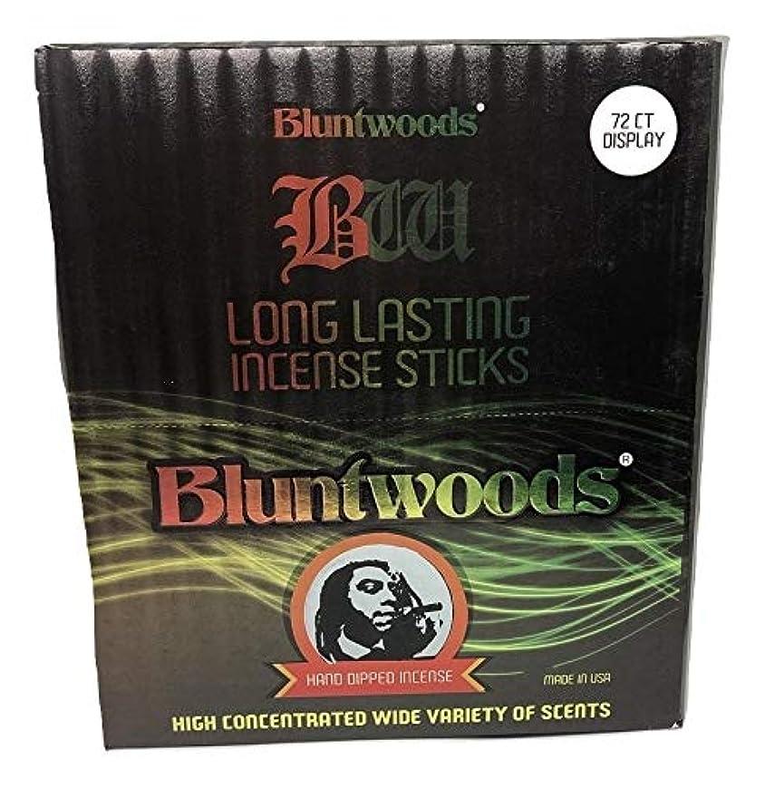 効果的に安心させるお肉BLUNTWOODS Blunt Woods 手染め お香ディスプレイ (72カウントアスト) 合計864 お香スティック