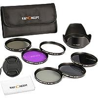 72mm フィルター、K&F Concept® 72mmフィルターキット カメラ用フィルター(UV+CPL+FLD+ND2 ND4 ND8)72mm プロテクター UVフィルター レンズ保護と紫外線吸収用+薄枠偏光フィルター 反射除去用+超薄型FLDフィルター 蛍光灯補正+NDフィルターキット 減光フィルター光量調節用 ND2 ND4 ND8 3枚Canon EOS 7D 60D 70D 500D Nikon D300 D600 D7000 D7100 D800 デジタル一眼カメラ専用+クリーニングクロス超極細繊維布+花形レンズフード+レンズキャップ+フィルターケース