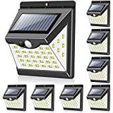 Solar Lights Outdoor[40 LED & 3 Working Modes], Towkka Wireless IP65 Waterproof Solar Lights with 300° Lighting Angle, Securi