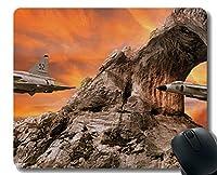事務机のパッド、オフィスのデスクトップまたはゲーム用マウスマットのためのジェット軍用機マウスパッド