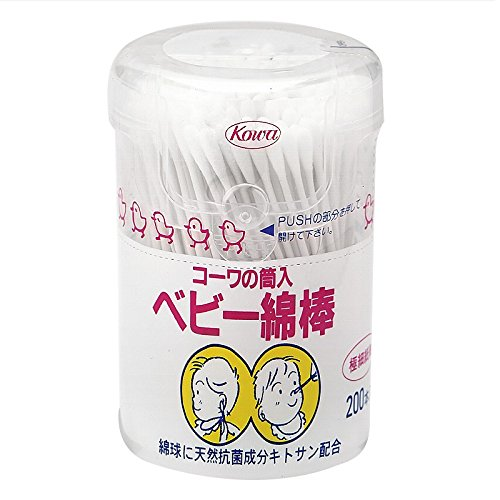 コーワの筒入ベビー綿棒(200本入)