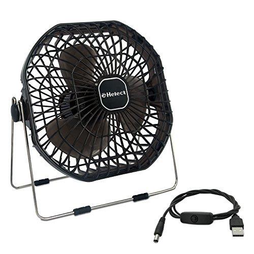 Helect 18cm USB 扇風機 ミニ扇風機 卓上扇風機...