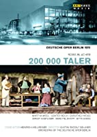 ボリス・ブラッハー:歌劇「200000ターラー」[DVD]