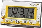 リズム時計工業 Disney ディズニー 電波目覚まし時計 くまのプーさん 8RZ133MC08 温度 湿度 カレンダー グレー 黄色 イエロー デジタル