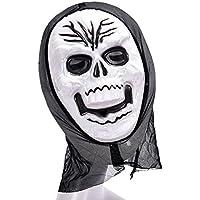 Liebeye メンズレディースマスカレードパーティー/ハロウィーンスケルトンゴーストフェイスコスプレマスク仮装パーティートリックグリス