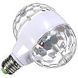 E27回転ktvバーディスコパーティーの装飾ランプ3ワット双頭rgb ledボール舞台効果照明